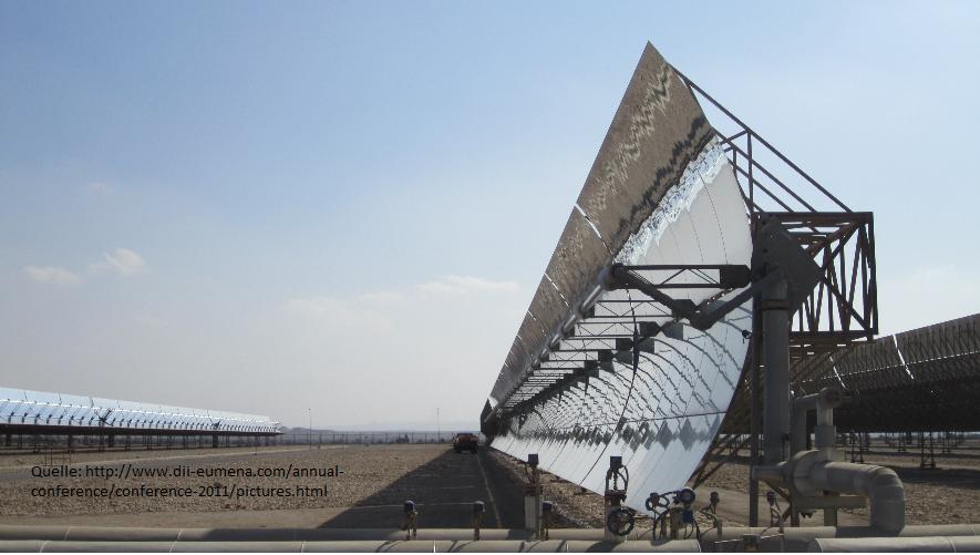 Quelle: Desertec Solarthermie in der Wüste Kuraymat