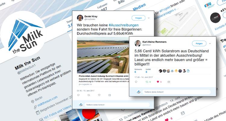 5,66 Cent/kWh: So reagiert die PV-Community auf Twitter