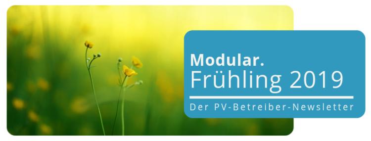 """Der PV- Betreiber-Newsletter """"Frühlingsausgabe"""":  Alles Wissenswerte zum Betrieb Ihrer Photovoltaik-Anlage"""